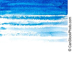 blue watercolor brush strokes background. vector illustration