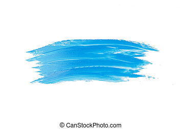 Blue watercolor brush stroke