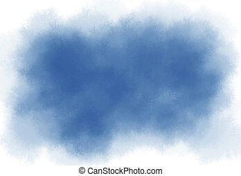 Blue watercolor brush strokes texture background with copy space