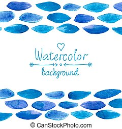 Blue watercolor card
