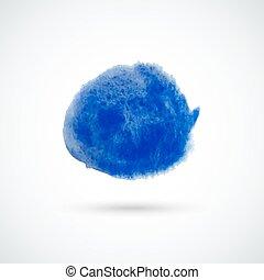 Blue watercolor circle