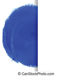 Blue watercolor circle. Vector banner for your design