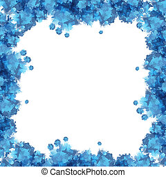 Blue watercolor frame useful for background