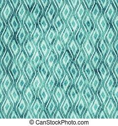 Blue watercolor geometric pattern