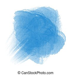 Blue watercolor on white background
