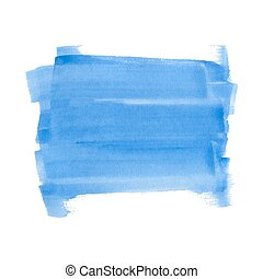 Blue watercolor rectangle