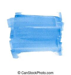 Blue watercolor rectangle