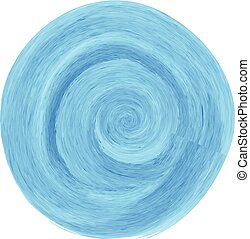 Blue watercolor spiral brush circle design for business commercial. Vector illustration.