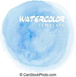 Blue watercolor splatter, vector illustration background