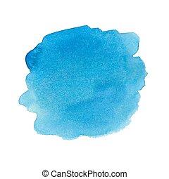 Blue watercolor spot.
