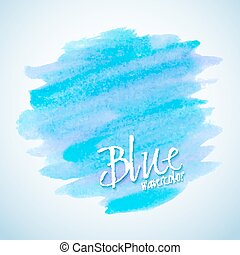 Blue watercolor stain design element
