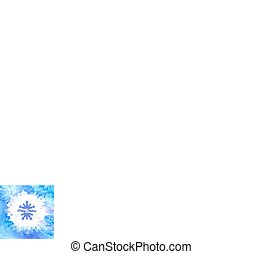 Blue watercolor vector winter background