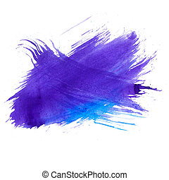 blue watercolors spot blotch isolated