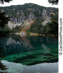 Blue Waters Reflect Tolmie Peak in Washington Wilderness