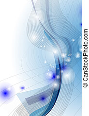 Blue Wave Abstract Background.