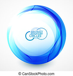 Blue wave abstract circle