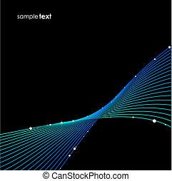 Blue wave background vector