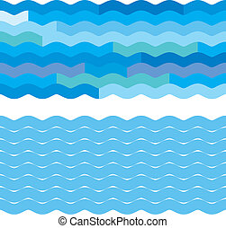 Blue wave backgrounds