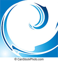 blue wave - Abstract blue wave, vector illustration