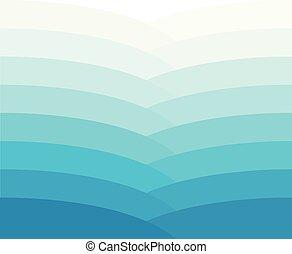 Blue wave color gradient