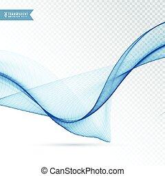 blue wave flowing on transparent background