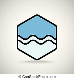 Blue wave interface icon