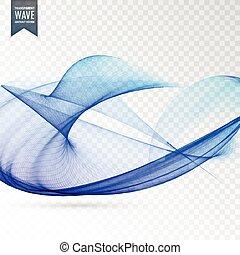 blue wave on transparent background