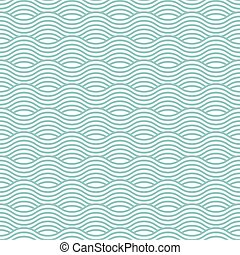 Blue wave seamless pattern. Vector illustration eps10