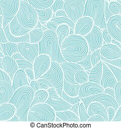Blue wave seamless vector pattern background with abstract ornaments