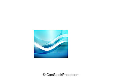 Blue wave shape