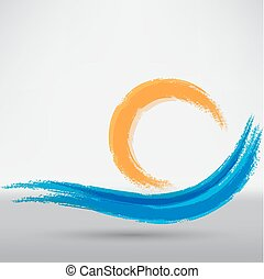 Blue wave sign