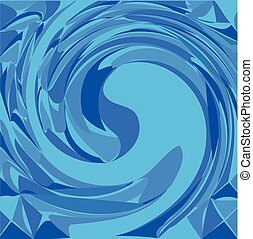 Blue wave water background