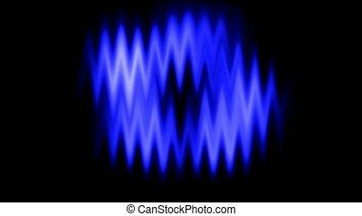 Blue waveform background