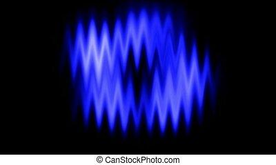 Blue waveform background