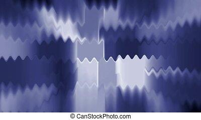 blue waveform, light rays