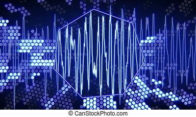 blue waveform technology animation