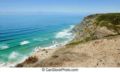 Blue waves Atlantic Ocean Algarve w
