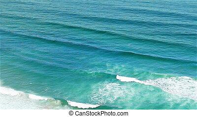 Blue waves Atlantic Ocean Portugal