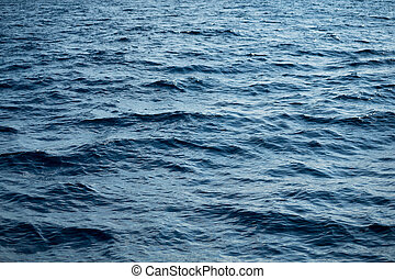 Blue waves of the sea