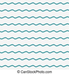 Blue waves seamless pattern.