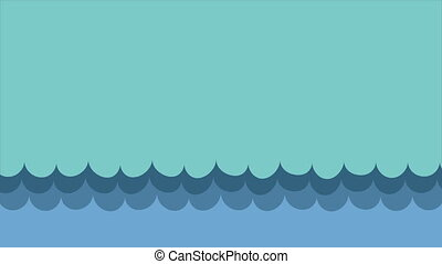 blue waves Video animation