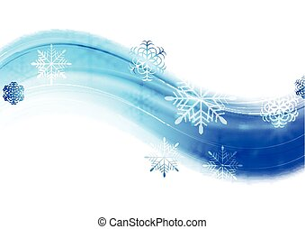 Blue wavy abstract Christmas background