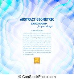 Blue wavy abstract geometric