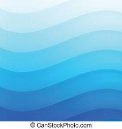 Blue Wavy background.