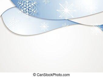 Blue wavy Christmas background