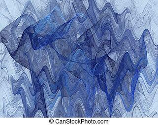 blue Wavy Fractal Background