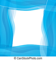 Blue wavy graphic border