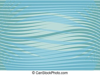 Blue wavy patterns background, leaflet, flyer, bill background, abstract horizontal waves with light reflections