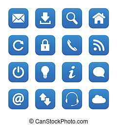 Blue web buttons - Set of blue web buttons