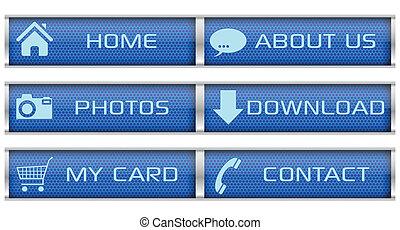 Blue web icon set
